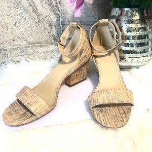 JOHNSTON & MURPHY Cork Ankle Strap Sandals Size 8